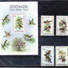 Sellos: GRENADA 913/6, HB 86 SIN CHARNELA, FAUNA, PAJAROS, . Lote 25135269