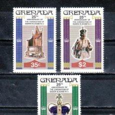 Sellos: GRENADA 811/3 SIN CHARNELA, 25º ANIVERSARIO CORONACION DE SU MAJESTAD ISABEL II. Lote 25206689
