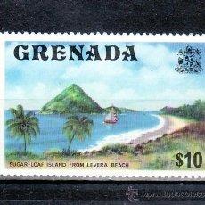 Sellos: GRENADA 576 SIN CHARNELA, BARCO DE VELA, PLAYA, . Lote 25220194