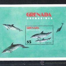 Sellos: GRENADA-GRENADINE HB 71 SIN CHARNELA, FAUNA MARINA DELFINES, . Lote 25115608