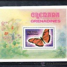 Sellos: GRENADA-GRENADINE HB 63 SIN CHARNELA, FAUNA, MARIPOSAS, . Lote 25115726