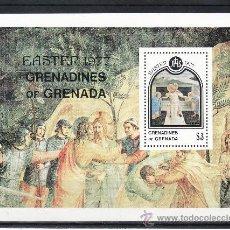 Sellos: GRENADA-GRENADINE HB 27 SIN CHARNELA, PASCUA, PINTURA, . Lote 25115767