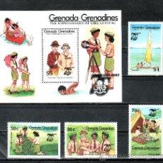 Sellos: GRENADA-GRENADINE 579/82, HB 94 SIN CHARNELA, 75º ANIVERSARIO DEL MOVIMIENTO SCOUTS FEMENINO . Lote 25127458