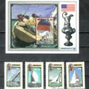 Sellos: GRENADA 1389/92, HB 166 SIN CHARNELA, DEPORTE NAUTICO, BARCO, COPA DE VELA -AMERICA- . Lote 25131745