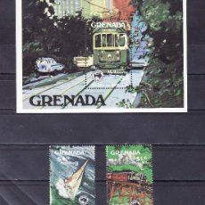 Sellos: GRENADA 1195/6, HB 123 SIN CHARNELA, FF.CC., DEPORTE, BARCO VELA, AUSIPEX 84 EXP. FIL. INTERNACIONAL. Lote 25132719