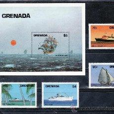 Sellos: GRENADA 1162/5, HB 120 SIN CHARNELA, BARCO, . Lote 25134982