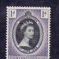 Sellos: FALKLAND-SHETLANDS DEL SUR 50 SIN CHARNELA, CORONACION DE ISABEL II, . Lote 138646190