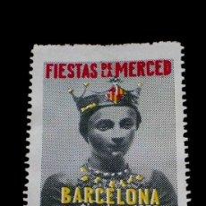 Sellos: SELLO ORIGINAL FIESTAS DE LA MERCED, BARCELONA, SEPTIEMBRE 1956. Lote 26021095
