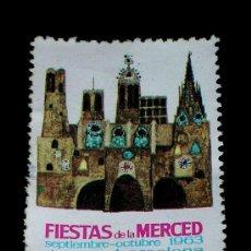 Sellos: SELLO ORIGINAL FIESTAS DE LA MERCED, BARCELONA, SEPTIEMBRE-OCTUBRE 1963. Lote 26021247