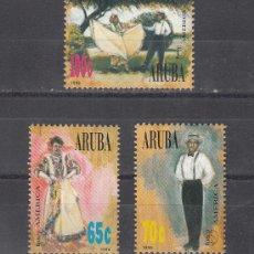 Sellos: ARUBA 177/9 SIN CHARNELA, TEMA UPAEP, TRAJES TIPICOS, . Lote 26688993