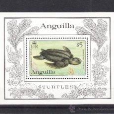 Sellos: ANGUILLA HB 49 SIN CHARNELA, FAUNA, ESPECIES EN PELIGRO, TORTUGA MARINA, . Lote 26587561