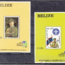 Sellos: BELIZE HB 38/9 SIN CHARNELA, DEPORTE, 75 ANIVº MOVIMIENTO SCOUTS Y 125 ANIVº LORD BADEN-POWELL . Lote 26623510