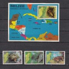 Sellos: BELIZE 603/8, HB 40 SIN CHARNELA, FAUNA MARINA, 1º ANIVERSARIO DE LA INDEPENDENCIA, . Lote 26623737