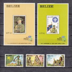 Sellos: BELIZE 588/93, HB 38/9 SIN CHARNELA, DEPORTE, 75 ANIVº MOVIMIENTO SCOUTS Y 125º LORD BADEN-POWELL. Lote 26623796