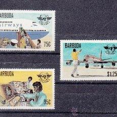 Sellos: BARBUDA 434/6 SIN CHARNELA, AVION, 30º ANIVERSARIO ORGANIZACION DE AVIACION CIVIL INTERNACIONAL. Lote 26644046