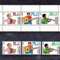 Sellos: ANTILLAS HOLANDESA 668/70, HB 22 SIN CHARNELA, INFANCIA, MUSICA, ACORDEON, GUITARRA, VIOLIN. Lote 26563457