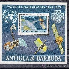 Sellos: ANTIGUA HB 70 SIN CHARNELA, ESPACIO, SATELITE, AÑO MUNDIAL DE LAS COMUNICACIONES . Lote 26573523