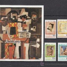 Sellos: ANTIGUA 616/9, HB 54 SIN CHARNELA, PINTURA, CENTENARIO NACIMIENTO DEL PINTOR PABLO RUIZ PICASSO, . Lote 26573957