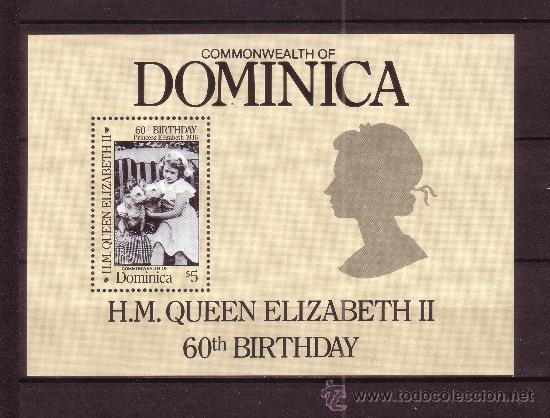 DOMINICA HB 109*** - AÑO 1986 - 60º ANIVERSARIO DE LA REINA ISABEL II (Sellos - Extranjero - América - Otros paises)