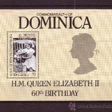 Sellos: DOMINICA HB 109*** - AÑO 1986 - 60º ANIVERSARIO DE LA REINA ISABEL II. Lote 27013489