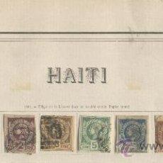 Sellos: HAITI PAISES EXOTICOS SELLOS ANTIGUOS CLASICOS RAROS PRIMERA SERIE COMPLETA AÑO 1881 NUMERO 1 AL 6. Lote 31014097