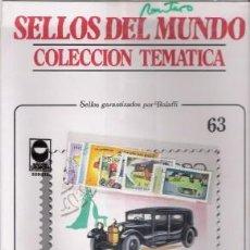 Sellos: SELLOS DEL MUNDO Nº 63, COLECCIÓN TEMÁTICA, AUTOMÓVILES. Lote 241976580