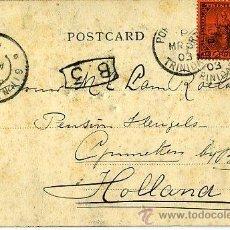 Sellos: MATASELLOS 1903 TRINIDAD TOBAGO - PORT OF SPAIN / GINNEKEN NEDERLAND HOLANDA BOTANIC GARDENS - FLORA. Lote 31637742