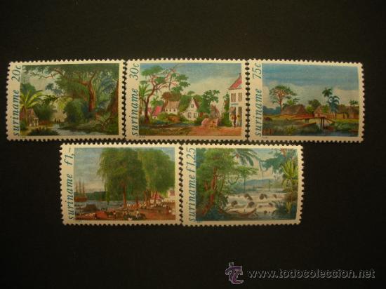 SURINAM 1981 IVERT 829/33 *** PINTURAS ILUSTRANDO VIAJE A SURINAM DE P. BENOIT (Sellos - Extranjero - América - Otros paises)