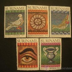Sellos: SURINAM 1983 IVERT 890/4 *** PASCUA - MOSAICOS ROMANOS. Lote 32181580