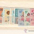 Sellos: NN.UU. NUEVA YORK 148/58 SIN CHARNELA, AÑO 1966 VALOR CAT 8.35 EUROS +. Lote 32587116