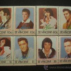 Sellos: SAN VICENTE 1985 IVERT 870/7 *** HOMENAJE AL CANTANTE ELVIS PRESLEY - MÚSICA ROCK. Lote 32615971