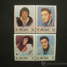 Sellos: SAN VICENTE 1985 IVERT 874/7 *** HOMENAJE AL CANTANTE ELVIS PRESLEY - MÚSICA ROCK. Lote 32639873