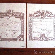 Sellos: VALES REALES 1798. EDITADOS POR LA F.N.M.T. NÚMERADOS. ENVIO GRATIS¡¡¡. Lote 33343262