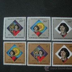 Sellos: RWANDA 1973 IVERT 566/71 *** 500º ANIVERSARIO NACIMIENTO DE NICOLAS COPERNICO - PERSONAJES. Lote 33659925