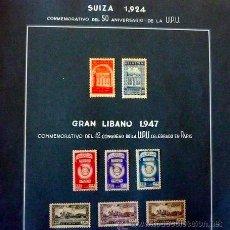 Sellos: SELLOS - SUIZA 1924, 50 ANIVERSARIO ADHESION UNION POSTAL UNIVERSAL. LIBANO 1947, 12 CONGRESO UPU. Lote 34369973