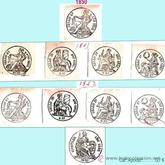Sellos: Plancha II.- Lote con 10 piezas. Su precio 63 € - Foto 2 - 34408084