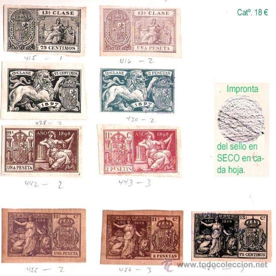 Sellos: Plancha XI.- Lote con 9 piezas. Su precio 10 € - Foto 11 - 34408084