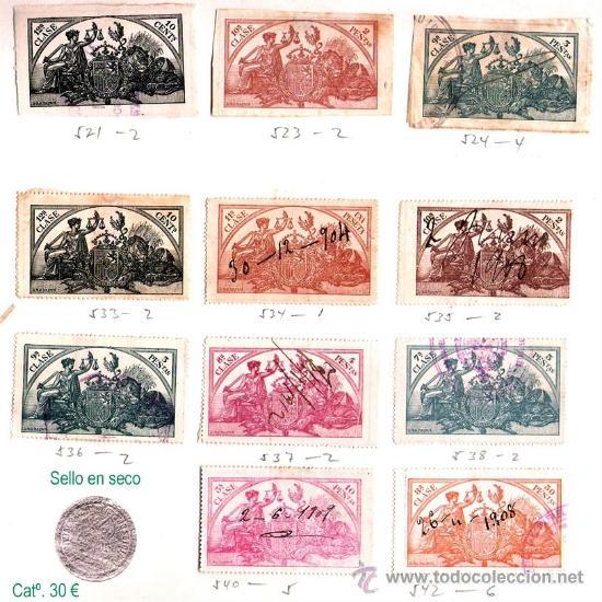 Sellos: Plancha XIII.- Lote con 11 piezas. Precio 15 € - Foto 13 - 34408084