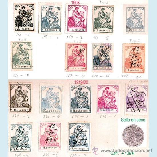 Sellos: Plancha XIV.- Lote con 17 piezas. Su precio 66 € - Foto 14 - 34408084