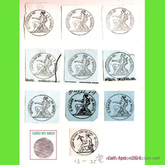 Sellos: Plancha XIX.- Lote con 10 piezas. Su precio 125 € - Foto 16 - 34408084