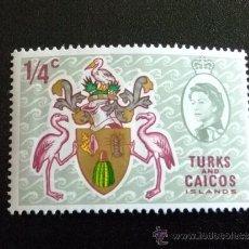 Sellos: TURKS & CAICOS AÑO 1969 YV 222 **MNH ESCUDO. Lote 191716347