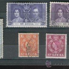 Sellos: SELLOS PAISES EXOTICOS SANTA LUCIA SAINT LUCIA. ANTIGUOS . Lote 36400025