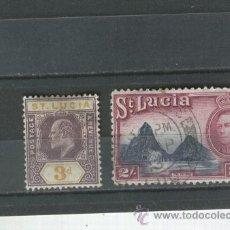 Sellos: SELLOS ANTIGUOS SANTA LUCIA PAISES EXOTICOS 61 -116 . Lote 36400060