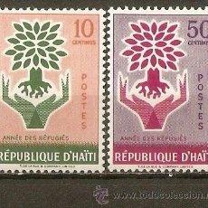 Sellos: HAITI YVERT NUM. 431/2 ** SERIE COMPLETA SIN FIJASELLOS. Lote 36518299