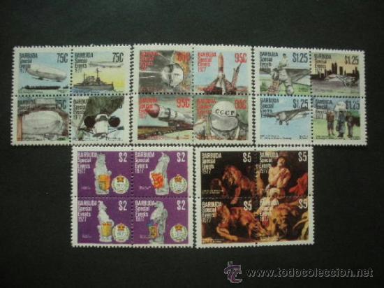 BARBUDA 1977 IVERT 345/64 ***ANIVERSARIOS - AVIONES - ESPACIO - PINTURA (Sellos - Extranjero - América - Otros paises)