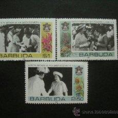 Sellos: BARBUDA 1986 IVERT 805/7 *** 60º ANIVERSARIO DE LA REINA ISABEL II - MONARQUÍA. Lote 36832252
