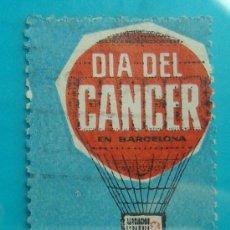 Sellos: SELLO, VIÑETA, DIA DEL CANCER, BARCELONA 1962, CIRCULADO. Lote 37115171