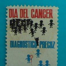 Sellos: SELLO, VIÑETA, DIA DEL CANCER, BARCELONA 1962, NUEVO SIN GOMA. Lote 37115200
