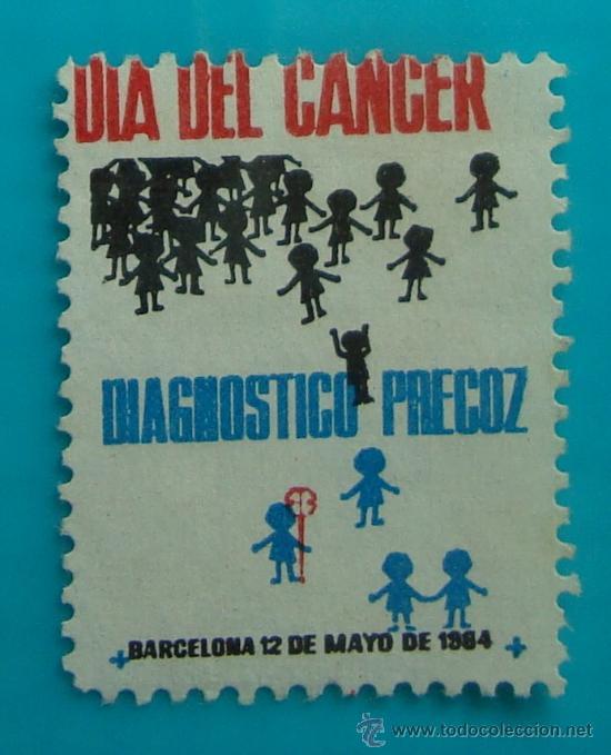 SELLO, VIÑETA, DIA DEL CANCER, BARCELONA 1962, NUEVO SIN GOMA (Sellos - Temáticas - Varias)