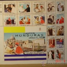 Sellos: HONDURAS - HOJA BLOQUE (17 SELLOS) PROCLAMACION CARDENALISTICA OSCAR A. RODRIGUEZ NUM. 0219. Lote 37633183